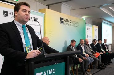Esequias Pereira, Embraco, presents during ATMO Australia 2019