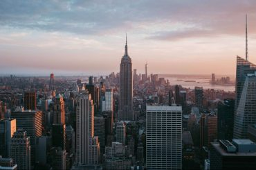 New York City skyline. Energy efficiency is an increasing focus for buildings in the U.S.