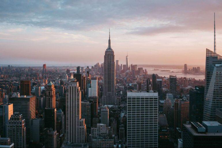 New York City skyline. Energy efficiency is an increasing focus for buildings in the U.S.
