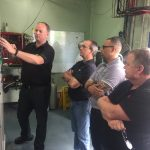 Ian Suffield, Bitzer Australia, conducting CO2 training
