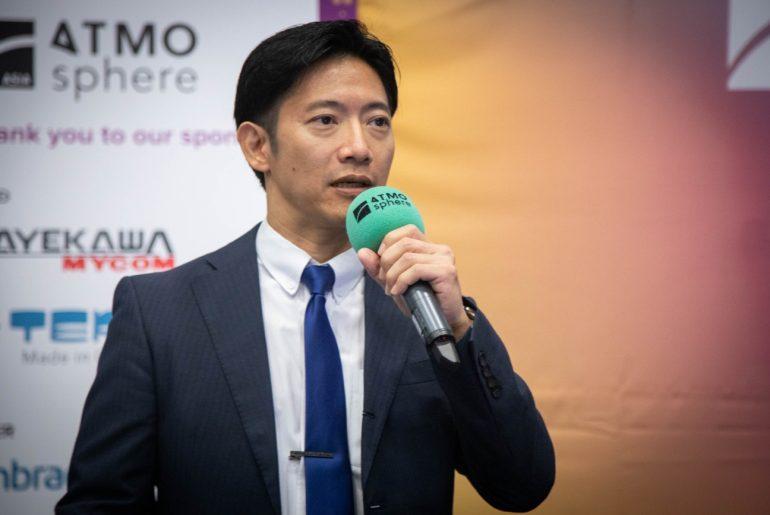 Kosuke Yamamoto, Mayekawa Thailand, at ATMOsphere Asia 2019.