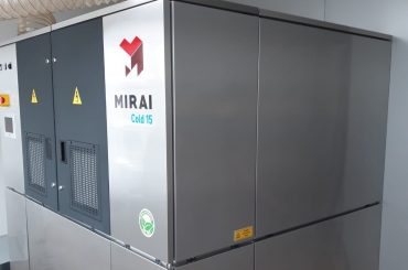 Mirai COLD units use only air as a refrigerant to achieve very low temperatures.
