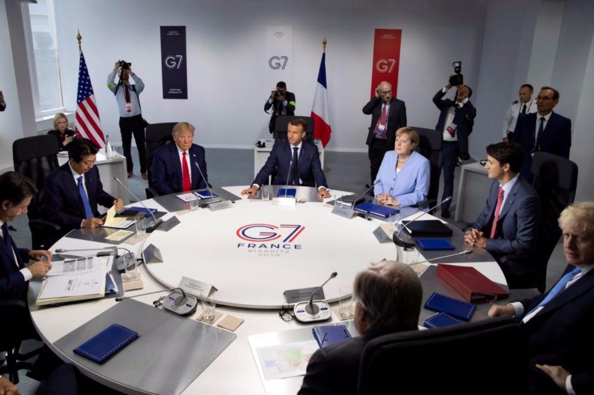G7 meeting in Biarritz, France