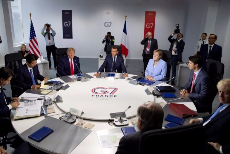 G7 meeting in Biarritz, France