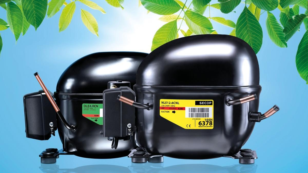 Secop manufactures specialized refrigeration compressors such as these R290 ones.