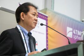 Willy Salazar, Frabelle addresses the audience at ATMOsphere Asia 2019 in Bangkok.