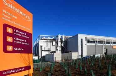 Sainbury's Pineham Frozen National Distribution Center in Northampton, U.K.