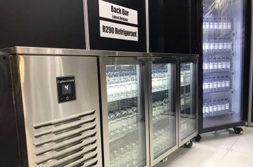 CyberChill R290 food and beverage service equipment on display at Foodservice Australia 2019 in Melbourne. Photo via CyberChill.