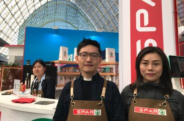 SPAR China's Junbo Chen (left) and Jolin Zhu at ChinaShop 2019 in Qingdao, China.