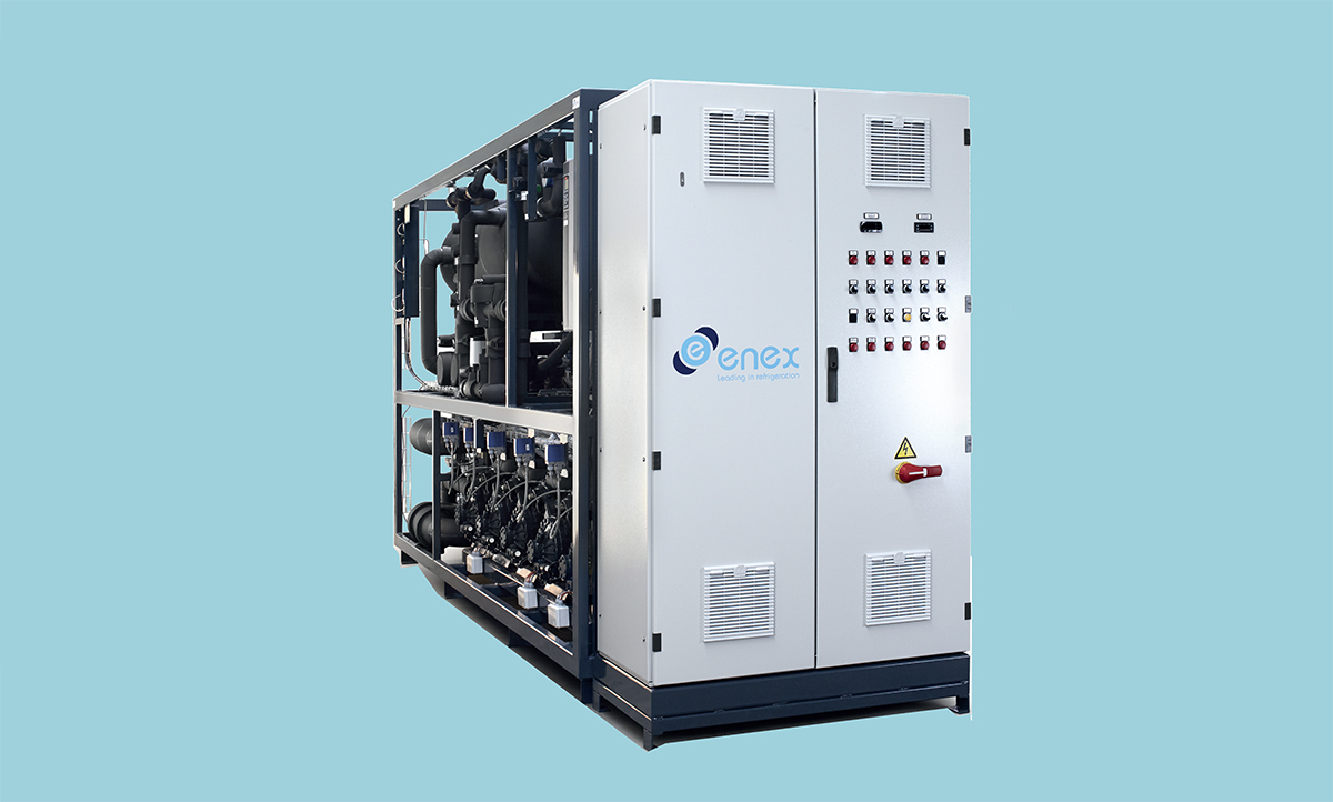 The new Enex Yukon CO2 chiller for HVAC and process cooling.