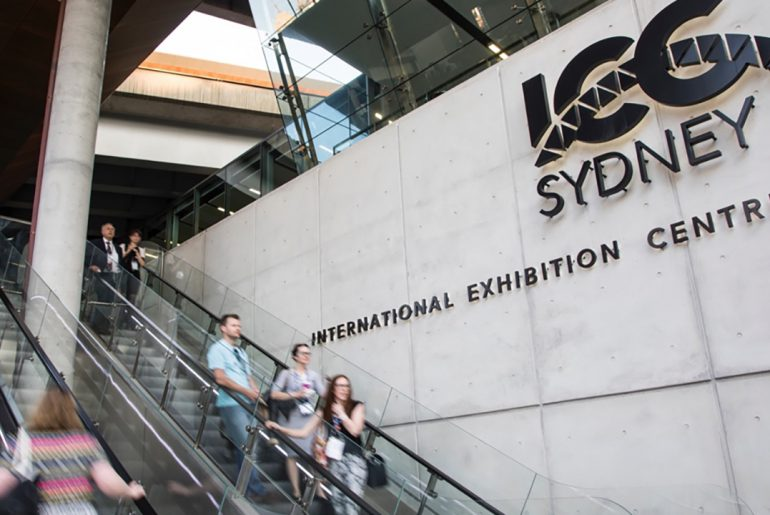 The ICC Sydney Convention and Exhibition Center.