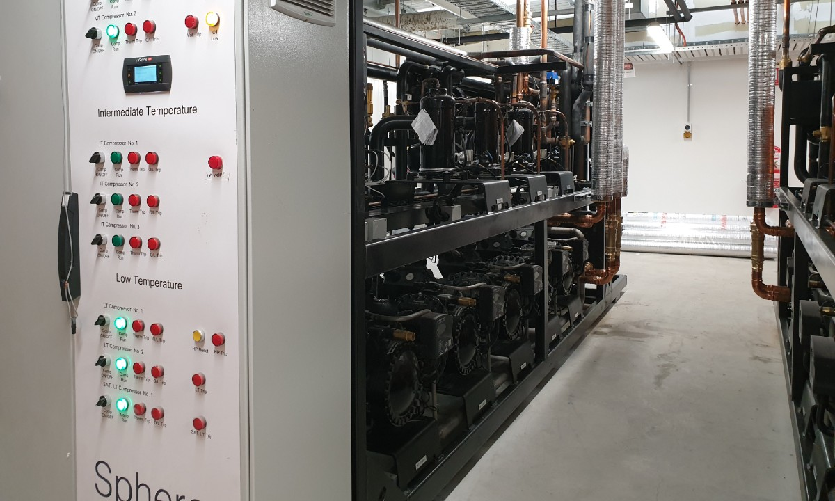 Transcritical CO2 system at Michael's SUPA IGA store in Keysborough, Victoria.