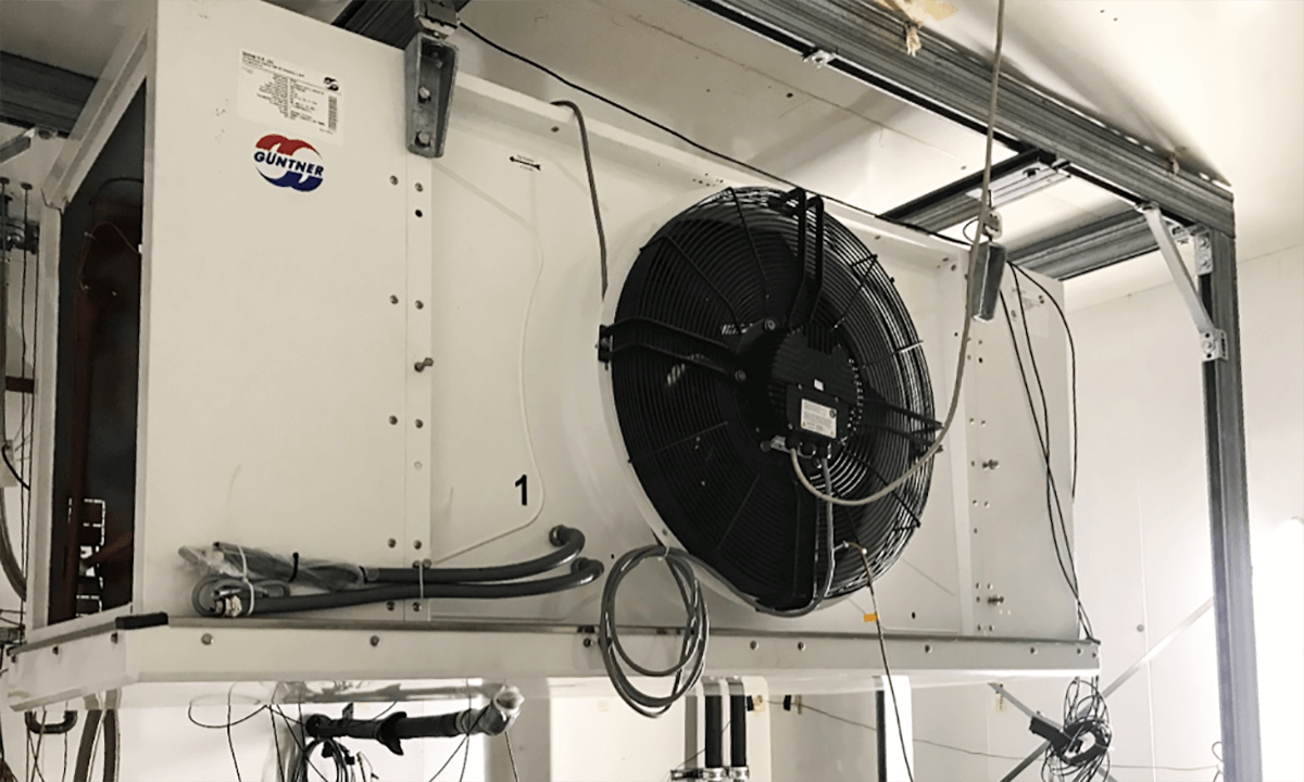 Guntner evaporator being tested in the FARS project