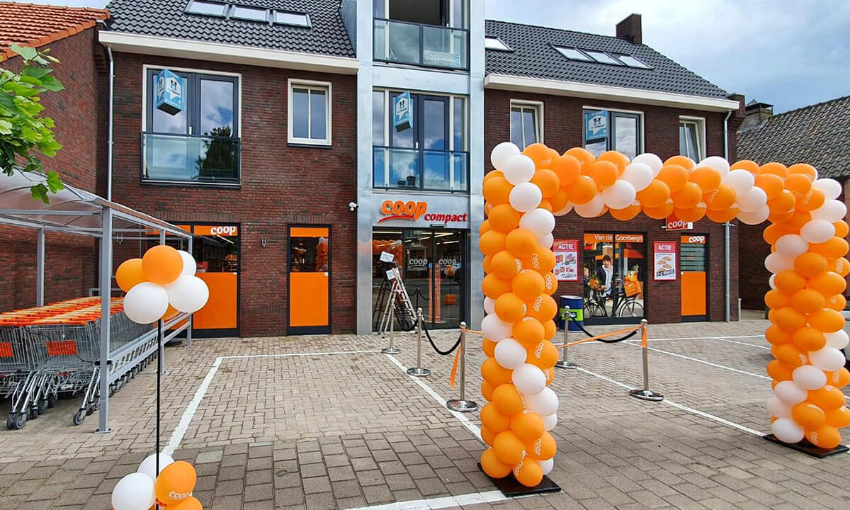 COOP Store in Wernhout with Freor R290 water-loop system.