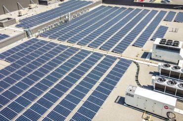 Longo's store with solar panels.