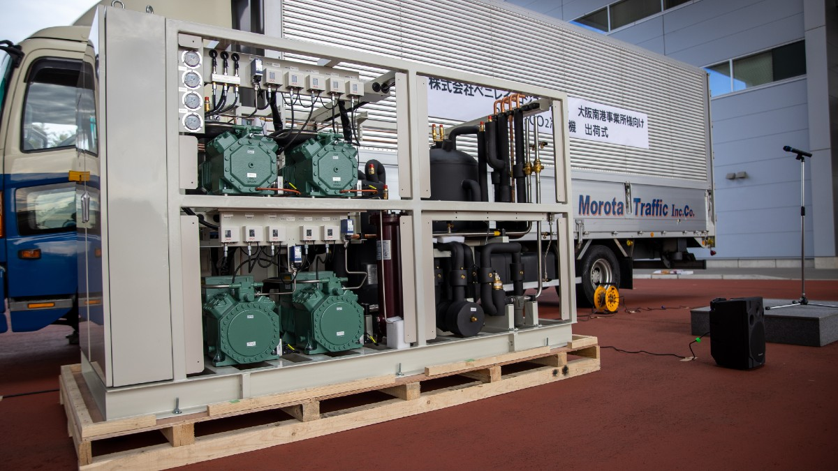 Panasonic 80HP transcritical CO2 rack
