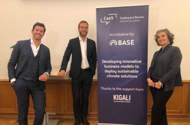 The BASE team behind the scenes, from left: Dimitris Karamitsos, Thomas Motmans, and Carla Della Maggiora.