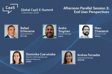 The panel who shared end user perspectives during the global CaaS E-Summit in December last year.