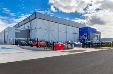 Cold storage facility using the vapor quality control technology from HB Products.