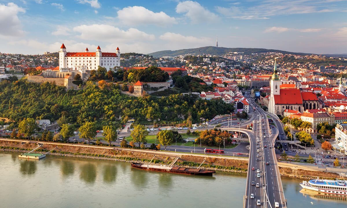 Bratislava, one of the cities used in the study simulations.