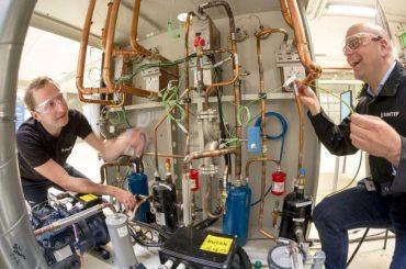 Sintef heat pump researchers